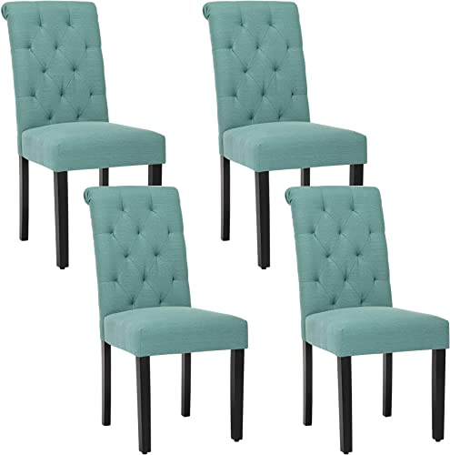 Solid Wood Tufted Parsons Dining Chair