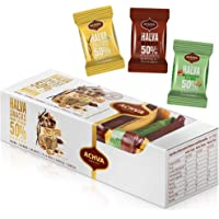 Variety Pack of Halvah Marble, Vanilla, and Walnut Israel Candy Bars– Vegan-Friendly, Certified Kosher Snacks with No…