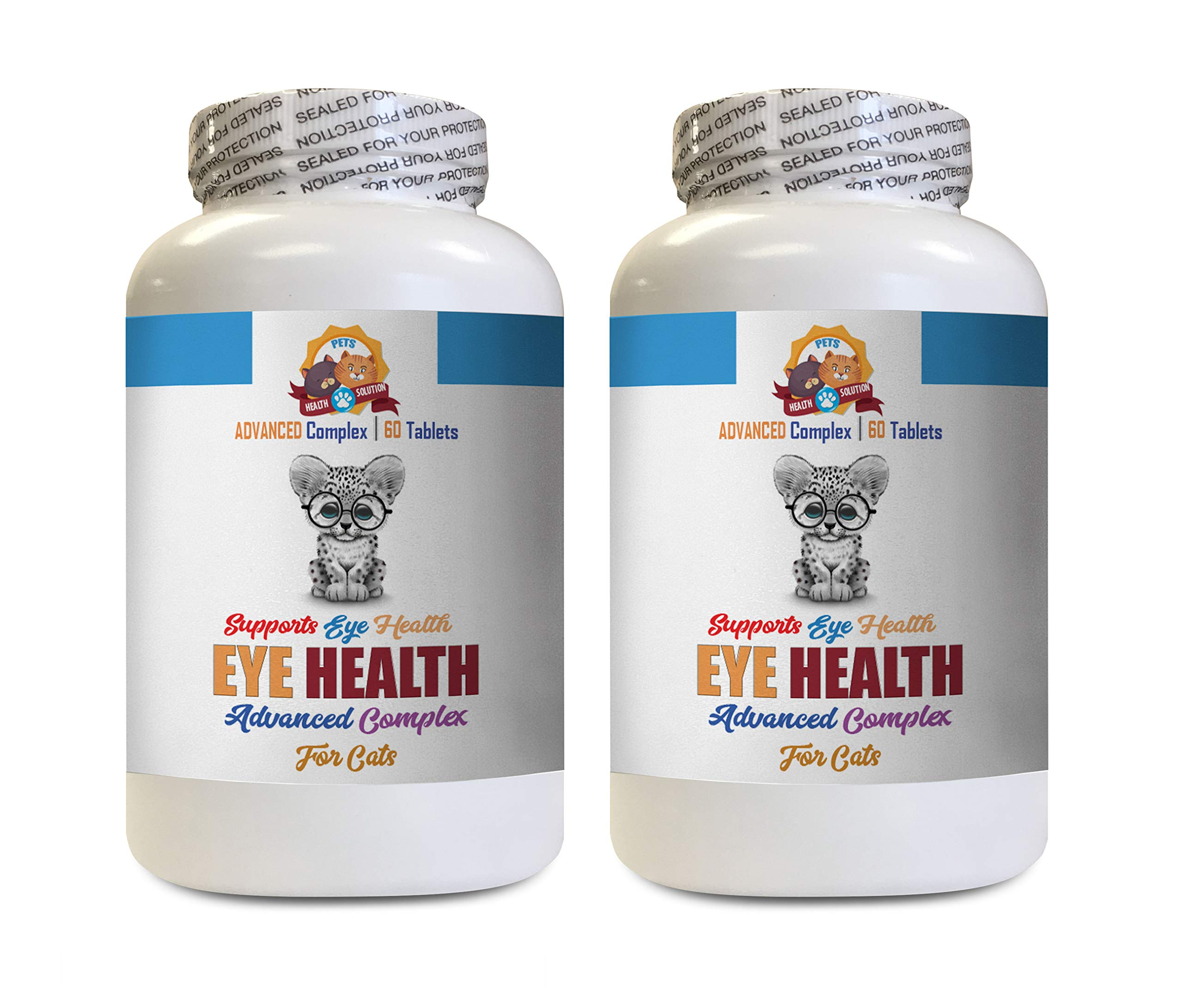 cat Treats for Eyes - Eye Health Solution for Cats - Best Vision - Helps Dry Itchy Eyes - Advanced Formula - astaxanthin for Cats - 120 Tablets (2 Bottles) by PETS HEALTH SOLUTION