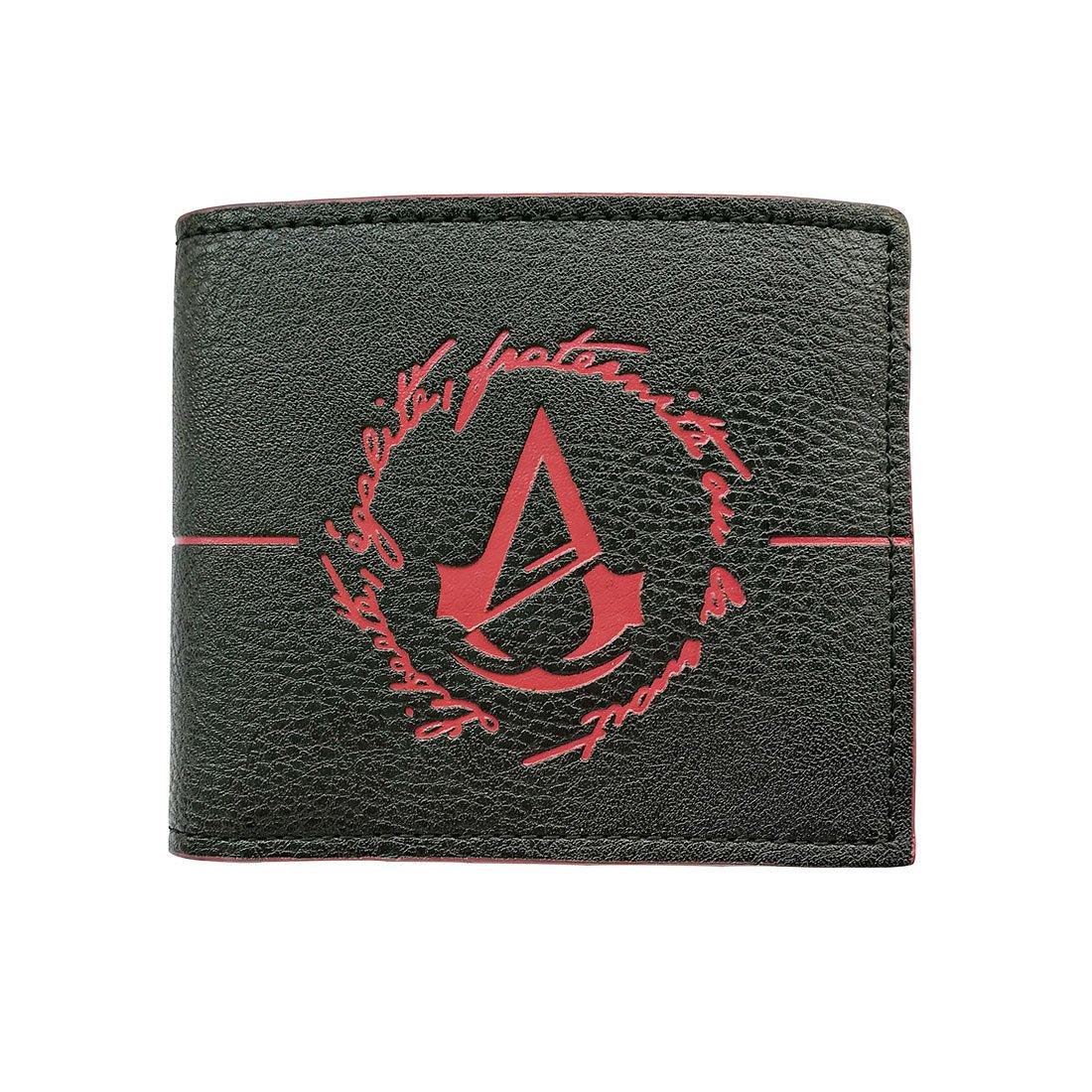 Portafoglio da uomo per uomo Portafogli Assassin's Creed Portafoglio nero con portamonete