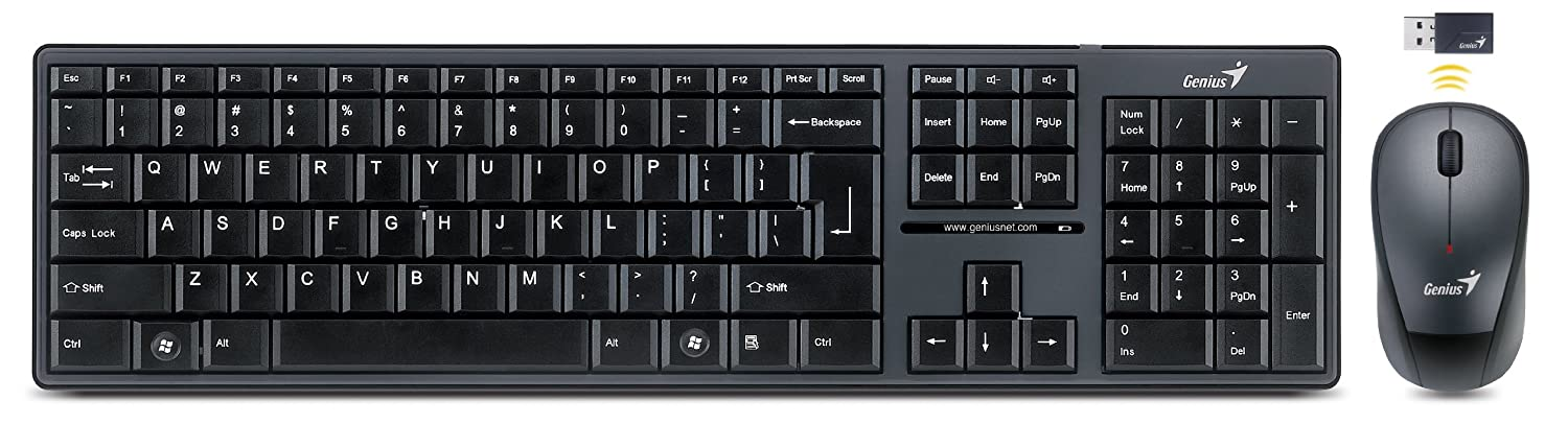 50597b8eb81 Combo Wl Genius Slimstar 8000 2.4ghz Keyboard and Mouse: Amazon.ca:  Electronics