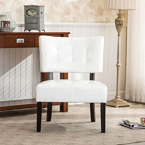 Roundhill Furniture ROUNF Blended Leather Tufted Accent Chair
