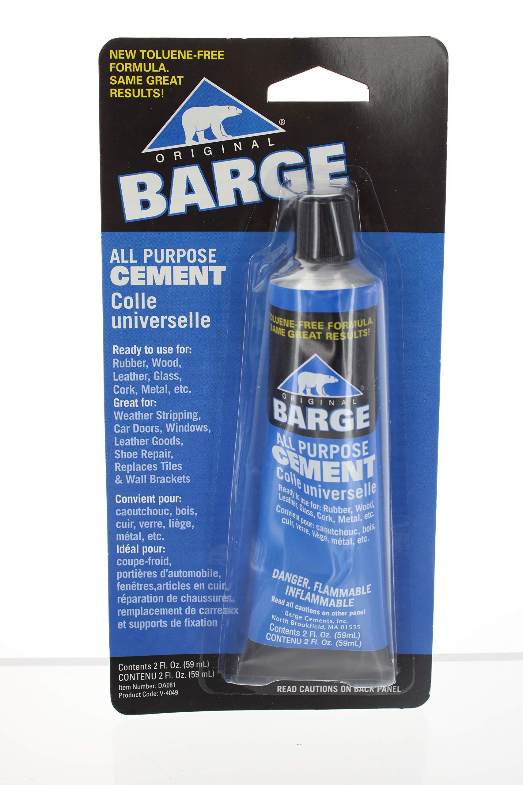 Barge Original All Purpose Cement 2oz Tube Adhesive Glue (2-Pack)