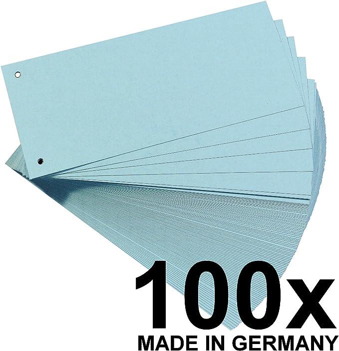 Falken Karton-Trennstreifen 10,5 x 24 cm 100er Pack blau