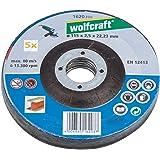 Wolfcraft 1620300 - 5 dischi da taglio per smerigliatrice, 115 x 2,5 mm