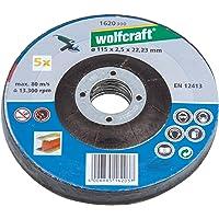 Wolfcraft 1 doorslijpschijven metaal diameter 115 x 2, 5 x 22, 2 mm 1620300