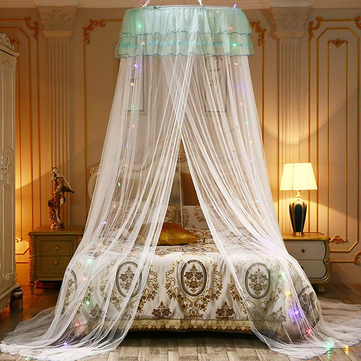 White anmas rucci Bed Canopy Mosquito Net Naturals Bed Canopy Fly Insect Protection Indoor//Outdoor Decorative Height 260cm//102.3in