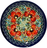 Polish Pottery Plate 6.5 Inch From Zaklady Ceramiczne Boleslawiec #Gu-818-296 Art Unikat Signature Pattern, 6.5 Inch Diameter