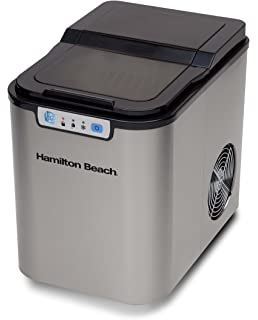 Attractive Hamilton Beach Portable Ice Maker, Black With Stainless Steel