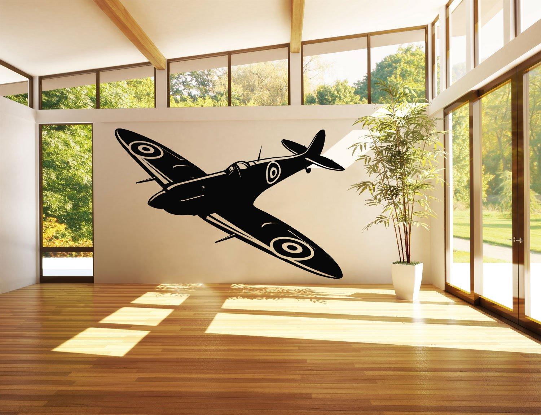 Amazon.com: Wall Sticker Decals Room Design Decor Pattern Airplane ...