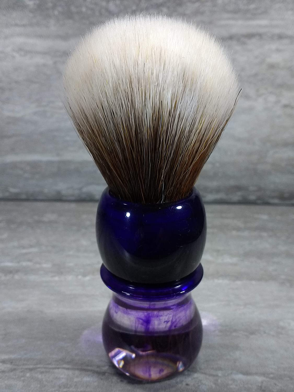Yaqi 24mm Knot Purple Haze Mew Brown Synthetic Shaving Brush R1738-S