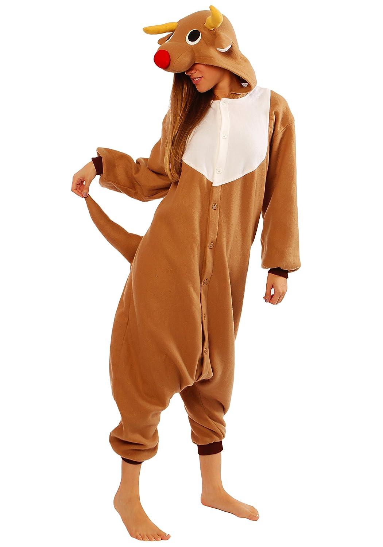 026cb31385bf Amazon.com  Reindeer Kigurumi  Clothing