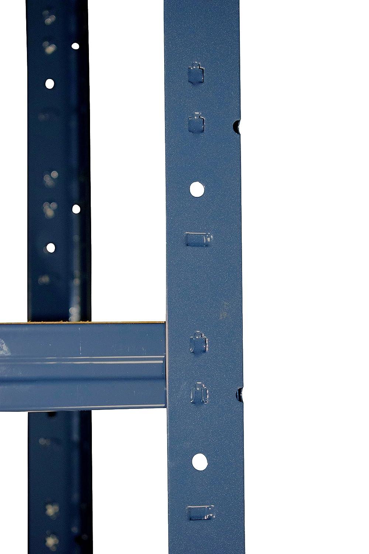 Eckregal-Metall-Schwerlast HOME 200x90x60 cm blau mit 5 Böden ...