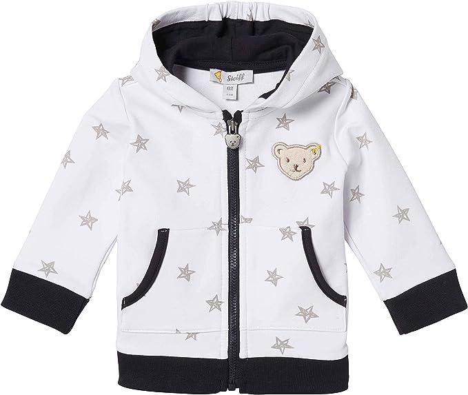Steiff Baby-Jungen Sweatshirt Cardigan mit Sternen und Taschen
