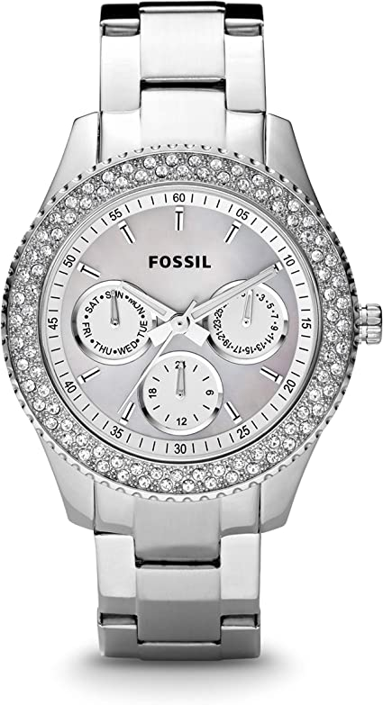 Fossil Womens Stella Stainless Steel Multifunction Quartz Watch