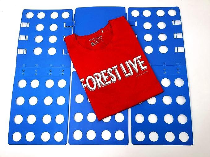 Nifogo Doblador de Ropa Doblador de Camisetas Camisas Ropa Adulto Infantil-Tabla para Doblar Ropa Azúl Plegar Camisetas Camisas Ropa Toallas: Amazon.es: Hogar