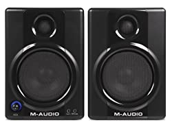 M-Audio Studiophile AV30 Speakers for AT-LP60 Turntable