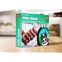 KÖFTE KEBAB Traditional: Halal, Premium Black Angus Beef, All Natural, Grass Fed - 1.5 lbs, 16 pieces (Frozen)