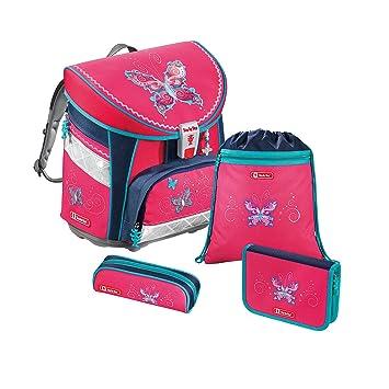 HAMA - juego de 4 accesorios para escuela con motivo de mariposa, mochila escolar: Amazon.es: Equipaje