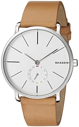 065bf8f660c Image Unavailable. Image not available for. Color  Skagen Men s SKW6215  Hagen Light Brown Leather Watch
