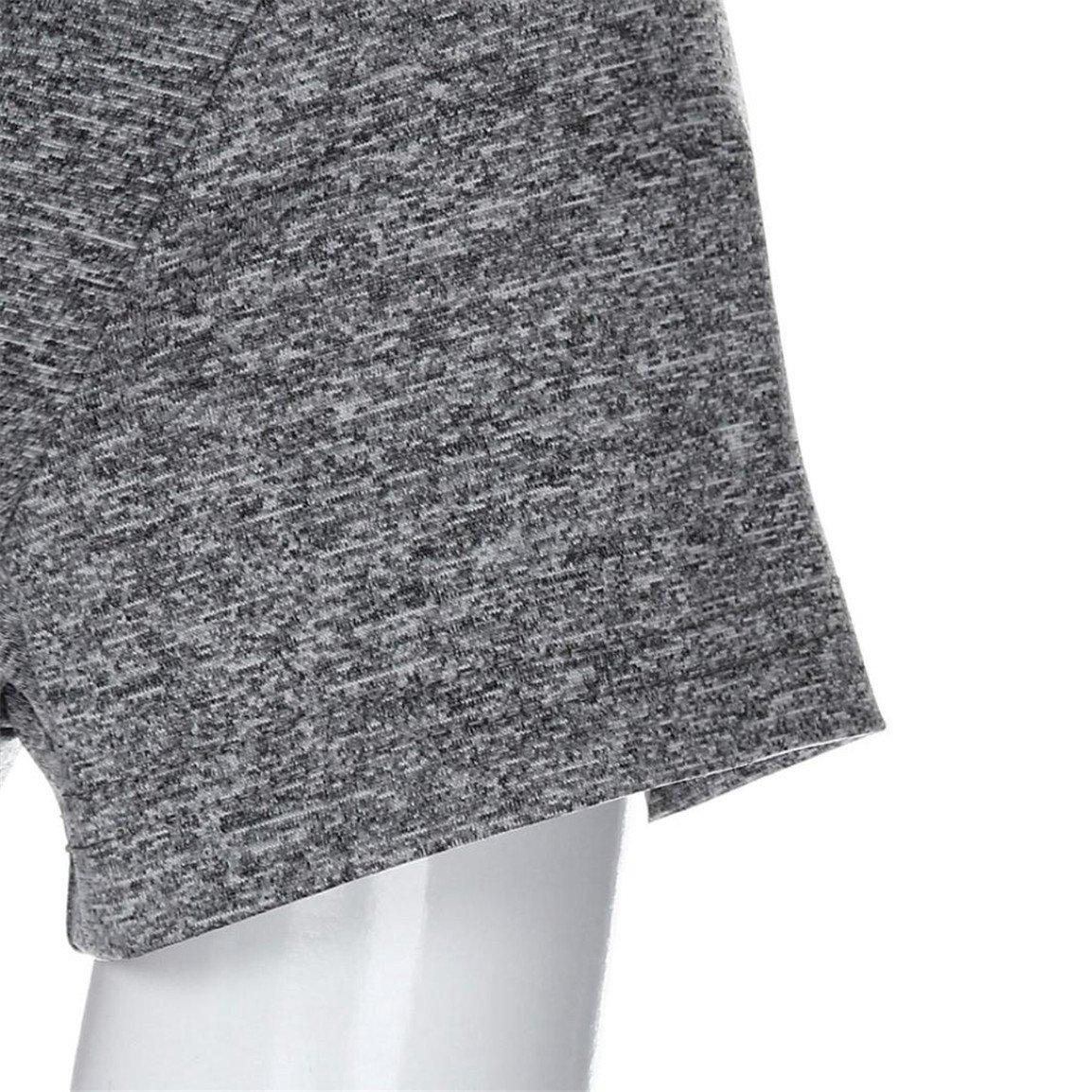 Bellelove Femmes Crop Top Femelle Manches Courtes Blouse O-Cou Solide Pur Couleur 2018 Mode /Ét/é Printemps Tops Slim Tops pour Fille