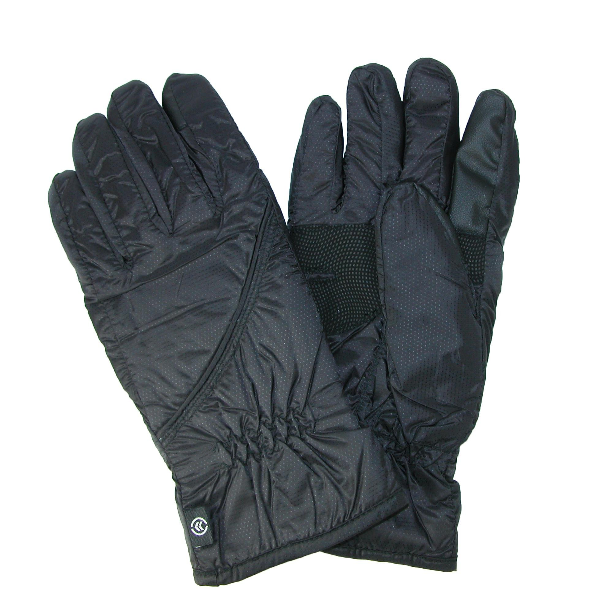 Isotoner Men's Packable Gloves, Small / Medium, Black by ISOTONER (Image #1)