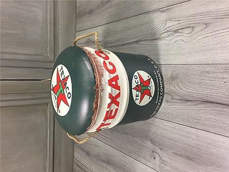 Retro vintage oil drum sgabello texaco storage small amazon