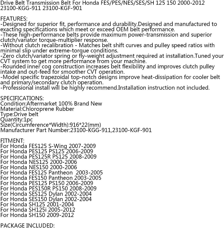 Drive Belt For Hon-da FES125 PES125 R NES//SES//SH//PES 125 i 150 R 2000-2012