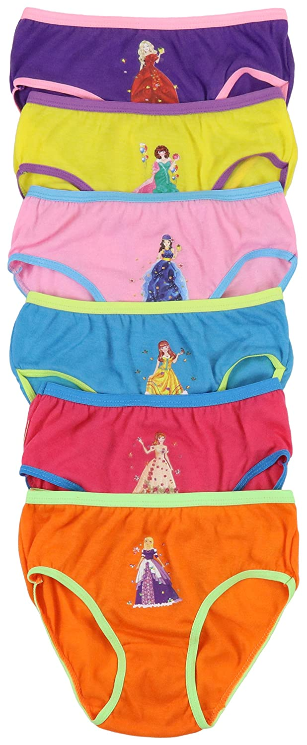 ToBeInStyle Girls Pack of 6 Princess Graphic Cotton Panties