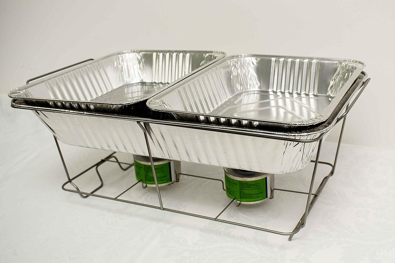 Juego de Chafing Dish desechable, sartenes de alimentos, para catering, fiestas, eventos, barbacoas