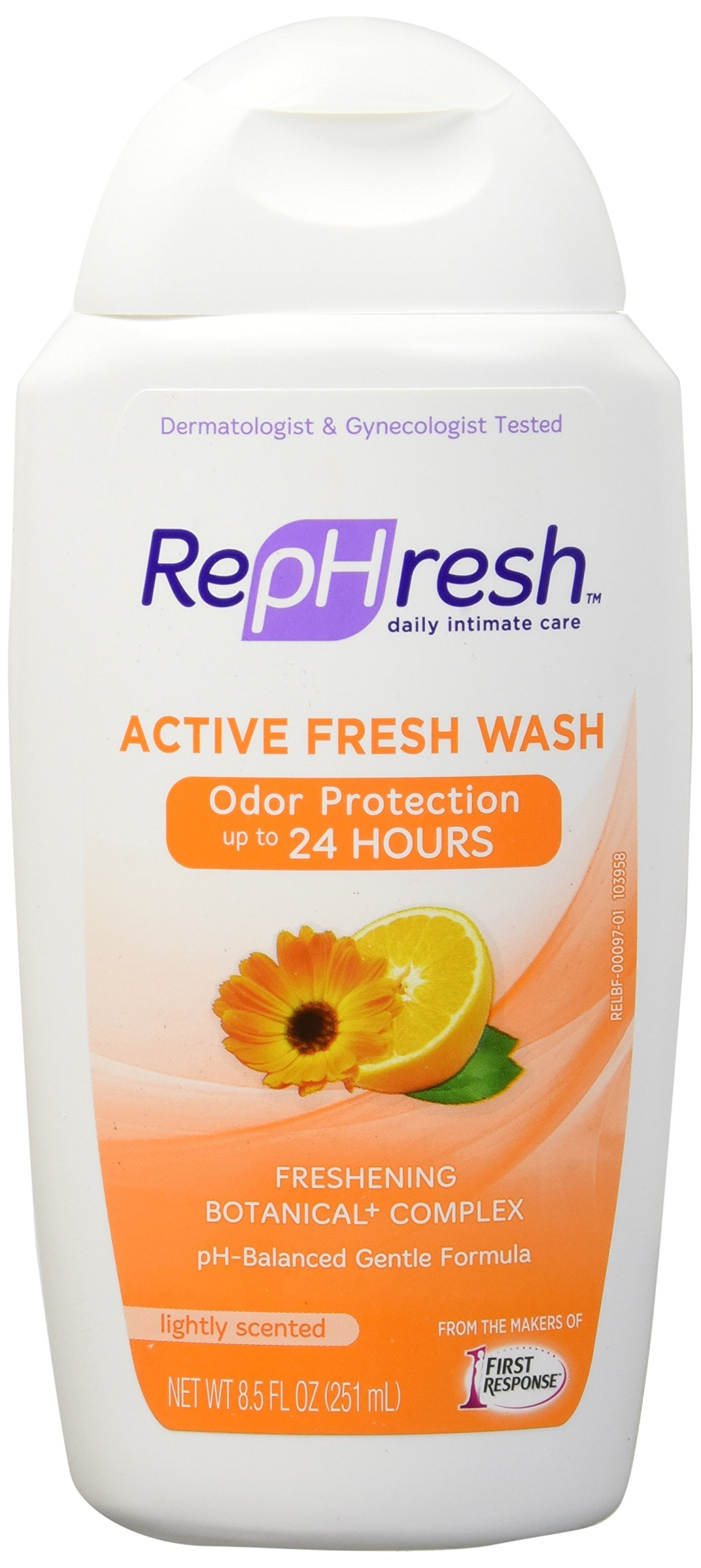 RepHresh Wash, Active Fresh, 8.5 Ounce (Pack of 4)