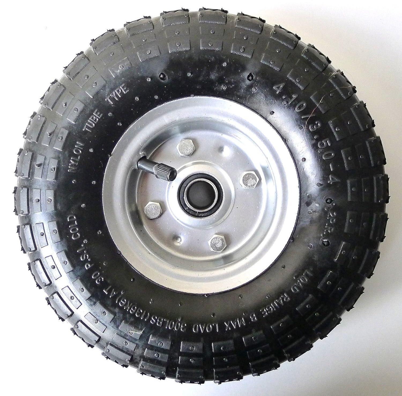 S+S - Neumáticos de aire, 2 unidades, llanta de acero 4,10 / 3,50 - 4, diámetro de 260 mm para carretas, carretillas, carros: Amazon.es: Bricolaje y ...