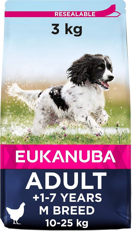 Eukanuba Alimento seco para perros adultos de razas medianas con pollo 3 kg