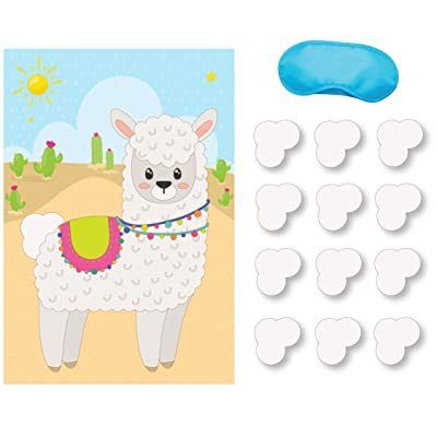 Pin the Tail on the Llama Game: Toys & Games