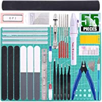 Keadic 55Pcs Professional Modeler Basic Tools Craft Set Hobby Building Tools Kit for Gundam Car Model Building Repairing and Fixing (Kit 11)