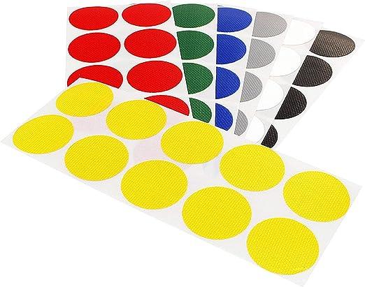 Klebepunkte farbig Bunte Klebepunkte Farbe Menge /& Durchmesser w/ählbar PE-beschichtete Markierungspunkte