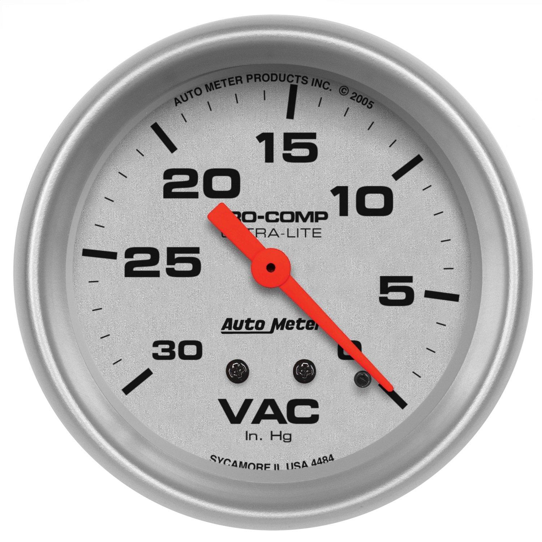 Auto Meter 4484 Ultra-Lite 2-5/8' 30 in. Hg Mechanical Vacuum Gauge