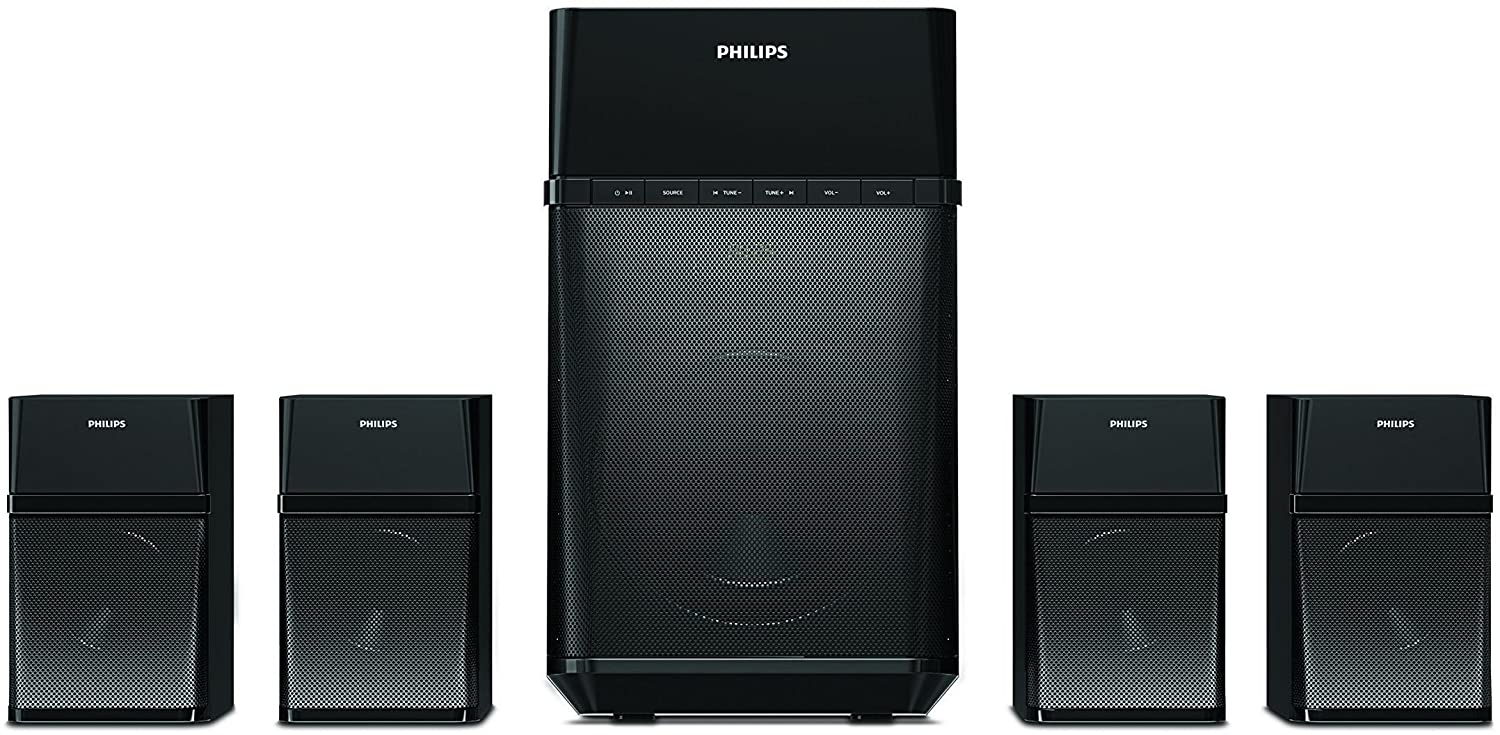 Philips SPA8180B 4.1 Channel Multimedia Speakers (Black)