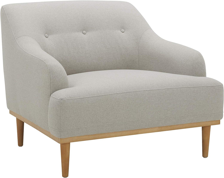 "Amazon Brand – Rivet Alvin Contemporary Livingroom Chair, 39""W, Light Grey"