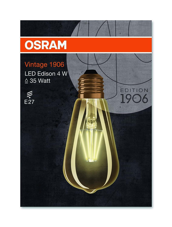 Osram LED-Lampe | Sockel E27 |Warm White (2400 K) | ersetzt ...
