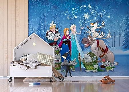 AG DESIGN QuotDisney Frozen Cartoon Characters 4 Part Photo Mural Wallpaper For Childrens Room