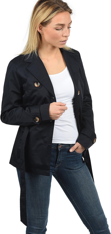 DESIRES Trixie Damen Trenchcoat Mantel /Übergangsjacke mit Reverskragen und G/ürtel