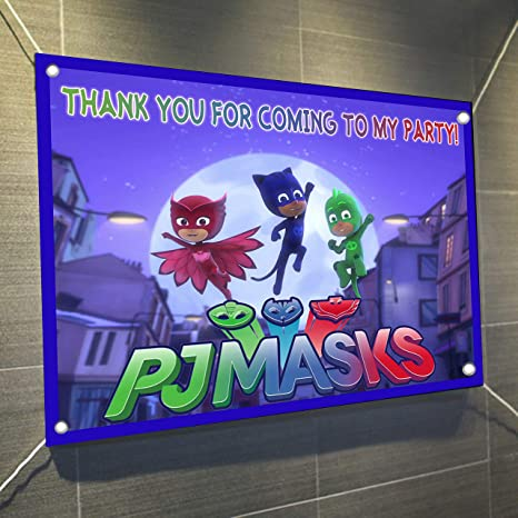 PJ Masks Moon Jump Banner Large Vinyl Indoor or Outdoor Banner Sign Poster Backdrop, Party