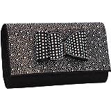 Willa Bow Glitter Sparkle Diamante Womens Party Prom Wedding Ladies Clutch  Bag - SWANKYSWANS 029c66aafd3e7