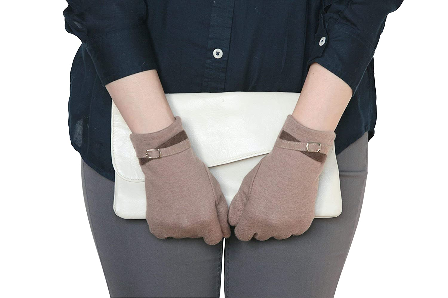Lovely Womens Fall & Winter Cashmere Glove with Smart Touch Technology. Comes in all sizes and available in 2 Colors.