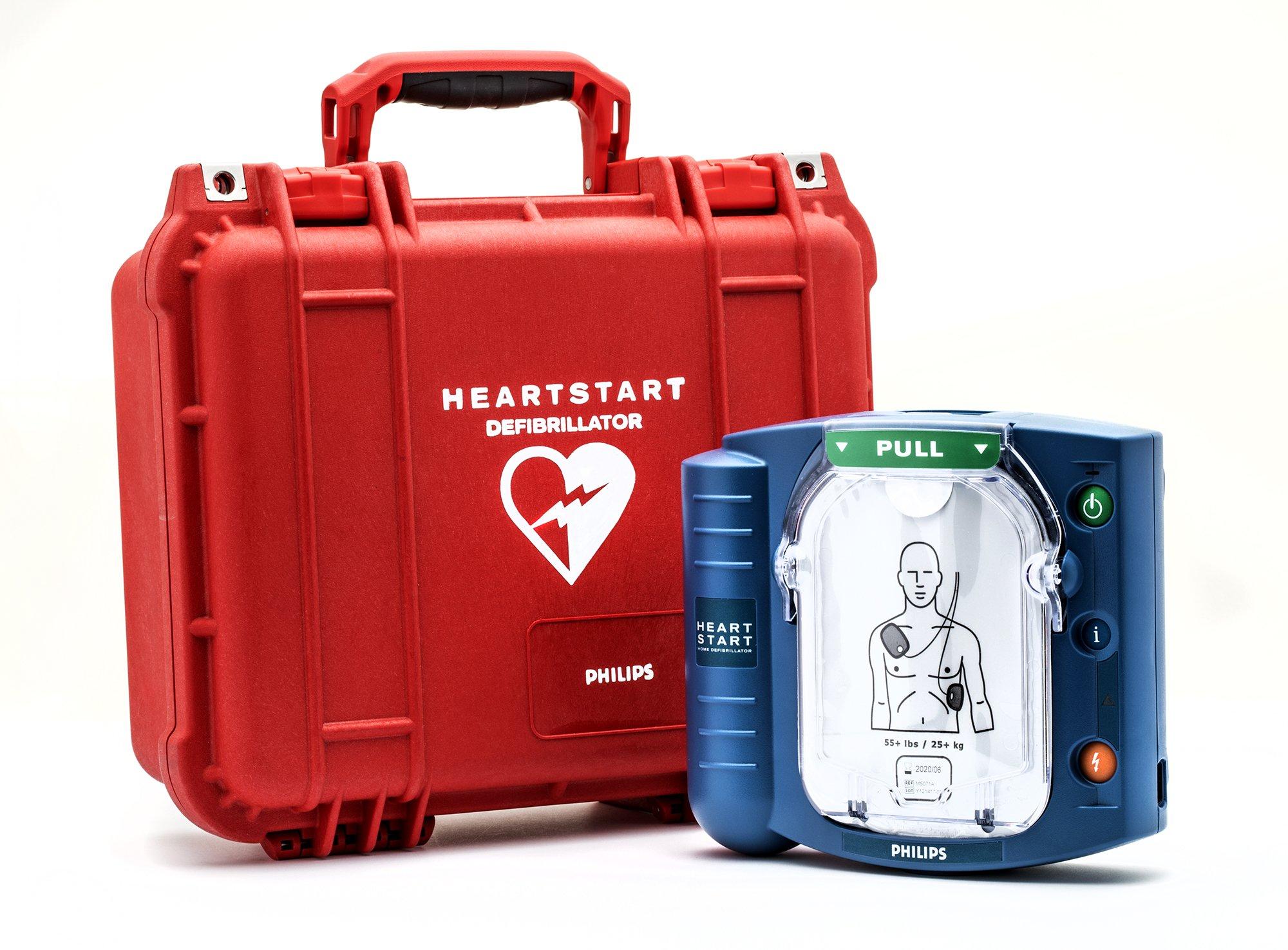 Philips HeartStart Onsite AED with Plastic Waterproof Carry Case by HeartStart