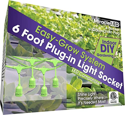 Miracle LED 604687 4 Grow Tent Fixture, Single Pack, Four Socket
