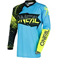 Camiseta de MX Oneal 2018 Element Burnout Negro-azul-Hi Viz