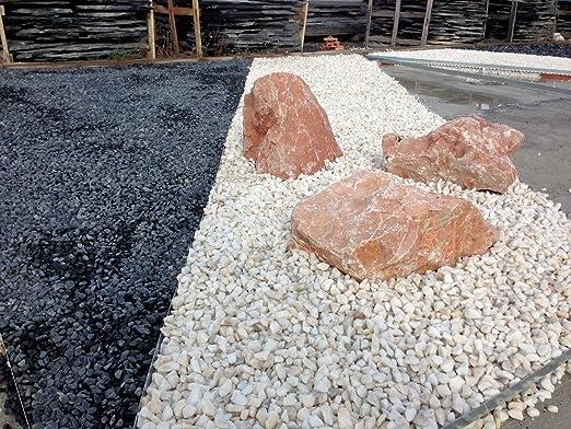 Grava Blanca jardin (Big bag de 1.000 kg.) (6-12 mm.): Amazon.es: Jardín
