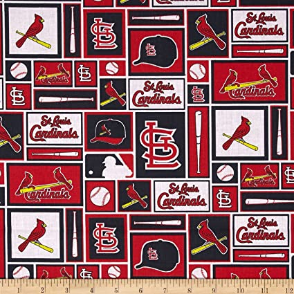 a90790a33 Amazon.com  Fabric Traditions MLB Cotton Broadcloth St. Louis ...